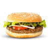 Broodje hamburger zonder